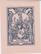 § EX-LIBRIS HENRI WARNECKE PAR EMIL DOEPLER (1855-1922) - ALLEMAGNE §