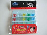 Disney Mickey Mouse Kawaii Clear Food Picks Japanese Bento Accessories/10pcs