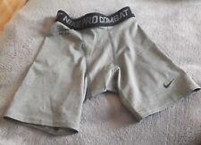 Nike Boys Pro Combat  Shorts Base layer Grey/black 10 - 12 Years (medium)