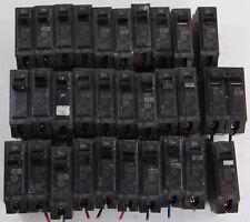 LOT of 30 GE Circuit Breaker THQB1115 THQB1120 1P 15A 120/240V, THQB2120 2P 30A