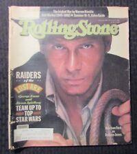 1981 ROLLING STONE Magazine #346 G/VG 3.0 Harrison Ford - Indiana Jones