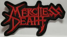 MERCILESS DEATH ( red shaped logo  ) EMBROIDERED  PATCH