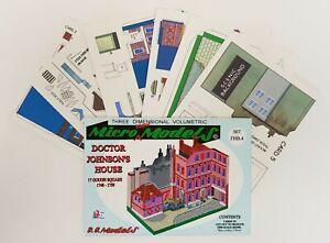 Micromodels Dr. DOCTOR JOHNSON'S HOUSE SET FHB4 Micro New Models card model kit