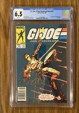 G.I. Joe #21 ~ CGC 6.5 WHITE PAGES 1st App Storm Shadow 🔥🔥1st Print Newsstand!