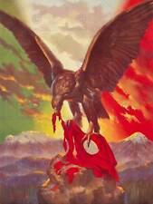 GUERRA di Propaganda Seconda Guerra Mondiale Mexico ATTACCO Aquila Bandiera Nazionale Socialista ART PRINT cc1801