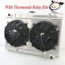 3 Row 52mm Radiator+Shroud+Fan+Thermostat Kits For Nissan Silvia S14 S15 SR20DET