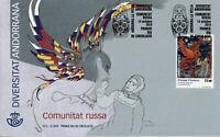 Spanish Andorra Art Stamps 2019 FDC Russian Community Diversity Cultures 1v Set