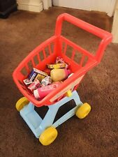Child Kids Toy Shopping Trolley Cart & Food Accessories