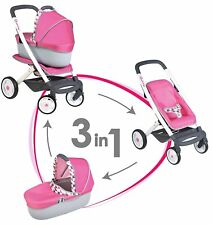 3 in1Maxi Cosi Quinny Baby Doll Pushchair Pram Kids Childrens Doll Stroller Toy