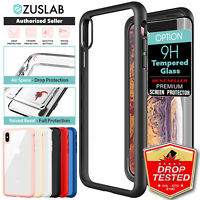 For iPhone X XS Max XR Case ZUSLAB Clear Heavy Duty Shockproof Slim Cover