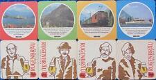 Bierdeckel Serie Sammlung - Schweiz Rugenbräu Interlaken - BLS 4 verschiedene