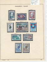 France 1967 MM+Used Stamps On 2 Pages Ref: R6806