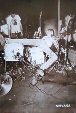 "NIRVANA ""KURT COBAIN FALLING BACK ON DRUM KIT"" POSTER FROM ASIA - Grunge Music"