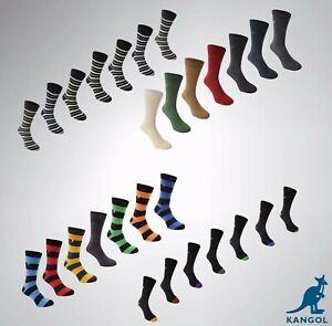 Mens Kangol 7 Pack Formal Everyday Stylish Socks Sizes 7-11 12+