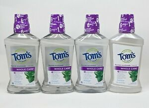 Tom's of Maine 4 Pack Whole Care Mouthwash Oral Rinse Fresh Mint Exp 10/21 -9/22