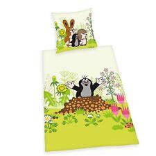 Herding Baby Bettwäsche Der kleine Maulwurf Flanell  40 x 60 cm  100x135 cm