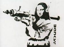 Banksy Mona Lisa with Rocket Launcher Ed.300 Printed Sign Ed.number pencil Italy