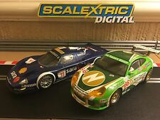 Scalextric Digital Maserati Mc12 No11 & Porsche 911 GT3R No66