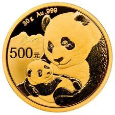 500 yuans china 2019 - 30 g de oro panda 2019 soldada