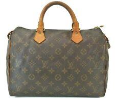 Authentic LOUIS VUITTON Speedy 30 Monogram Boston Handbag Purse #39877
