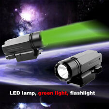 Quick Release Tactical Led Gree Torch Flashlight Cree for Glock w 20mm Weaver