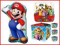 Super Mario Bros Happy Birthday Foil Helium Balloon Bouquet Party Anagram