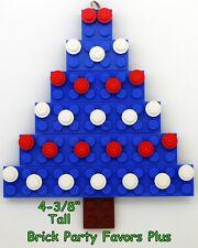 LEGO Custom Christmas Ornament, Blue Christmas Tree with Decorations Free Ship