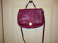 Brahmin Handbag  Shoulder Bag Raspberry Leather Pre-owned