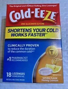 Cold-Eeze Zinc Cold Remedy Natural Honey Lemon Flavor Lozenge 18 Count