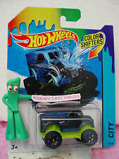 2014 Hot Wheels #48 Color Shifters MONSTER DAIRY DELIVERY☆Blue/Green✿Ambulance
