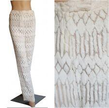 RARE Vintage GIANNI VERSACE COUTURE White Burnout Velvet Pants Sz 10 EU 44 MINT!