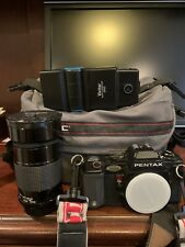 Pentax A3000 35mm Camera, Vivitar Series 1 67mm Lens, Vivitar 3700 Flash