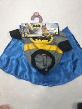 DC Comics Batman Pet Dog Costume Shirt with Detachable Cape & Eyemask Size Small