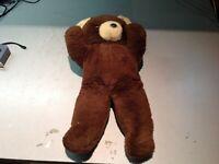 Gund J Swedlin Antique Large Brown Plush Bear 19 inches 1950-1963
