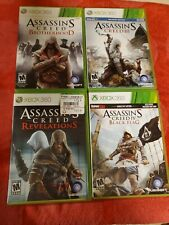 Assassins Creed brotherhood, 3, Black Flag, Revelations Games Lot XBOX 360