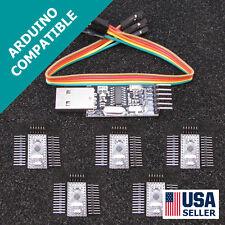 5x Arduino Pro Mini Pro & USB Programmer Newest Design FAST USA Seller U55