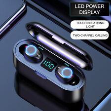 TWS Wireless Bluetooth 5.0 Mini Invisible Earphone In-ear 8D Stereo Headphones