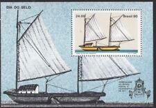 Ships - Canoe Brazil #1707 Mint NH Cplt 1980 Sao Francisco Stamp Day Souvenir Sh
