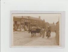 DERBYSHIRE. HUNTERS TEA STORES, 25 BRIDGE STREET, (1920). ALFRETON. HORSE & CART