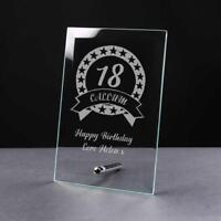 Personalised BIRTHDAY Gift 18th/21st/30th/40th/50th/60th/70th Glass Plaque GP32