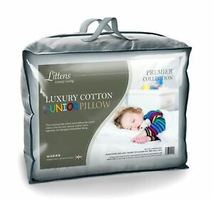 Junior Cot Bed 100% Luxury Fine Cotton Pillow, Hollowfibre, Toddler 40cm x 60cm