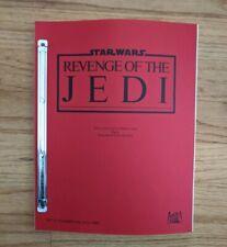 Star Wars - REVENGE OF THE JEDI - Original Script 2nd Draft Dec 19, 1982