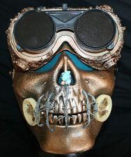 Halloween Costume Eyewear ~ Gold Apocalypse Goggles ~ Fully Adjustable ~ Flip-Up