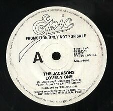"""THE JACKSONS   Rare 1980 Australian Promo Only 7"""" OOP Epic Single """"Lovely One"""""""
