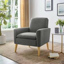 Modern Accent Arm Chair Wood Single Sofa Sponge Cushion Living Room Furniture