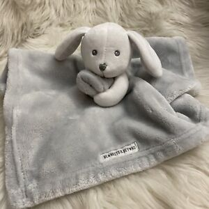 Blankets & Beyond Grey Puppy Security Blanket Lovey EUC
