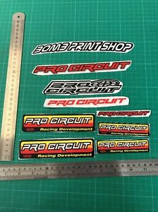 PRO CIRCUIT EXHAUST STICKERS X8 CLEARANCE MOTOX