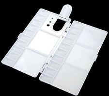 Foldout Watercolor Palette Rectangular Plastic Tray Brush Slots Thumb Hole M