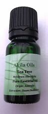 Tea TREE (100% PURO) olio essenziale 10ml Melaleuca alternifolia Fresh NUOVO & sono