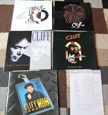 Bundle of CLIFF RICHARD Concert Tour PROGRAMME'S x5 1990-2000